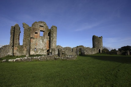 Ruins of Crom Castle at Crom Estate, Co. Fermanagh, Northern Ireland.