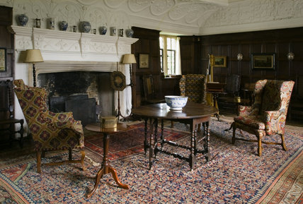 The Music Room (formerly the Great Parlour) at Westwood Manor, near Bradford-on-Avon, Wiltshire