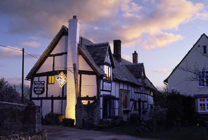 The Fleece Inn at Bretforton, four miles east of Evesham, Worcestershire