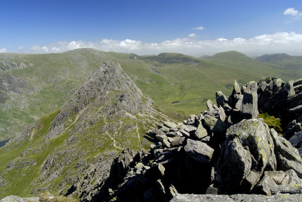 A view from the Glyders looking towards Tryfan and the Carneddau, all NT land, in Snowdonia, Wales