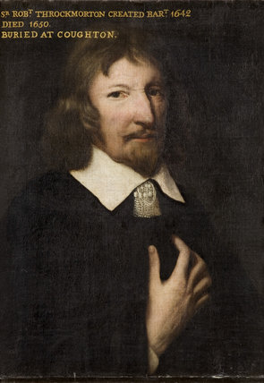 SIR ROBERT THROCKMORTON, 1st Baronet, (died 1650), English, 17th century in the Drawing Room at Coughton Court, Warwickshire
