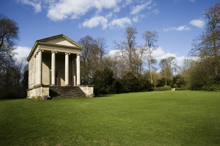 The eighteenth-century Ionic Temple at Rievaulx Terrace & Temples, North Yorkshire