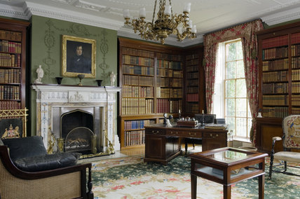 The Library at Hughenden Manor, Buckinghamshire, home of prime minister Benjamin Disraeli between 1848 and 1881