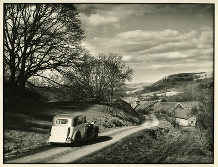 Edward Chambré Hardman's Car in Landscape