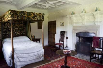 The Corner Bedroom at Westwood Manor, near Bradford-on-Avon, Wiltshire