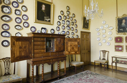 The Little Drawing Room at Coughton Court, Warwickshire
