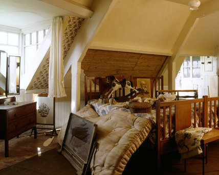 The Second Floor Bedroom, looking towards the beds and window