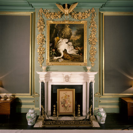 The chimneypiece in the Hondecoeter Room