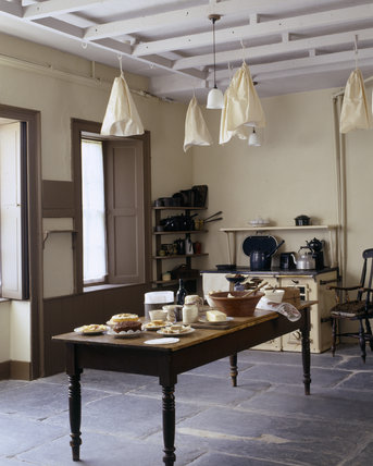 The kitchen at Llanerchaeron was designed by Nash