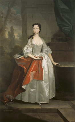 ELIZABETH KNIGHT, LADY ONSLOW by Michael Dahl, post- conservation