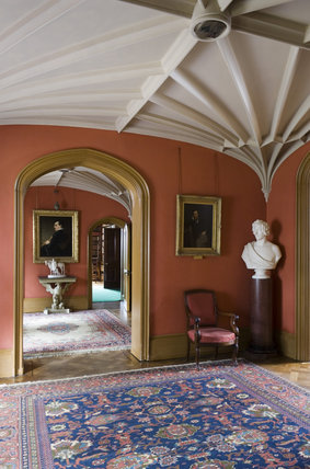 The Entrance Hall at Hughenden Manor, Buckinghamshire, home of prime minister Benjamin Disraeli between 1848 and 1881