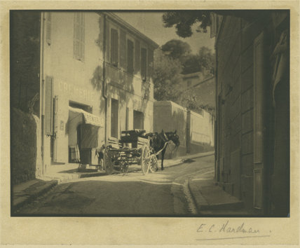 Cremerie with Horse and Cart, France