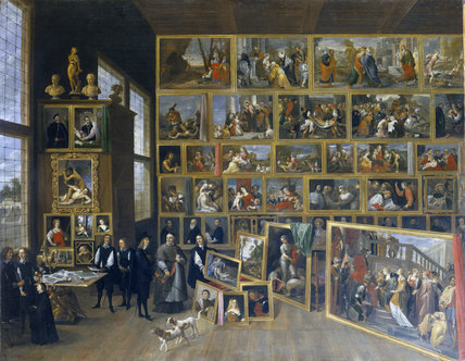 ARCHDUKE LEOPOLD'S GALLERY by David Teniers at Petworth (post conservation)