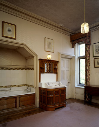 Matilda Blanche Gibb's new bathroom, refitted by the cabinetmakers Collier & Plucknett at Tyntesfield