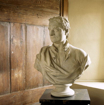 Copy of a bust of Sir Isaac Newton, after Michael Rysbrack, in the Study Closet at Woolsthorpe Manor