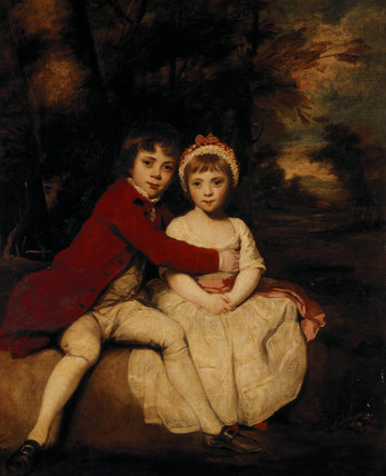 JOHN PARKER AND HIS SISTER THERESA AS CHILDREN 1779 by Sir Joshua Reynolds (1723 - 1792)