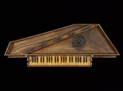 Virginal by Marcus Siculus, Sicily, 1540, the oldest signed and dated instrument in the collection, at Fenton House
