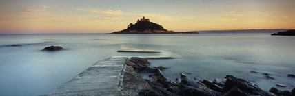 St Michaels Mount - The jewel in Cornwall's crown, this magical island has a church, a medieval castle ( home of the St Aubyn family for over 300 years), an exotic garden & ancient harbour