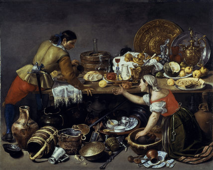 A KITCHEN SCENE by Antonia de Pereda, Penrhyn Castle