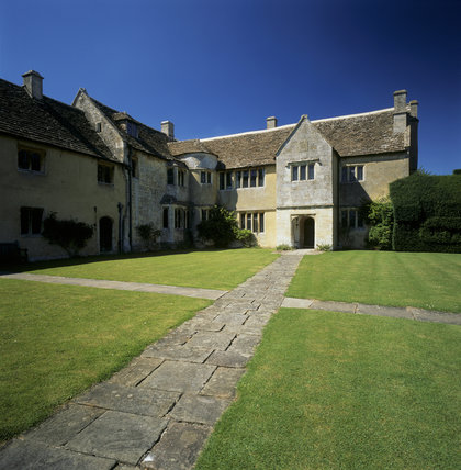 The stone flag path leading to the entrance of Westwood Manor