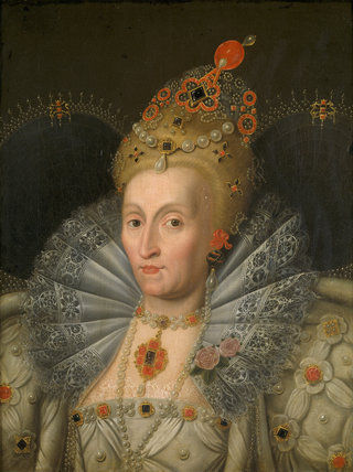 QUEEN ELIZABETH I after Marcus Gheeraerts the Younger at Wimpole Hall