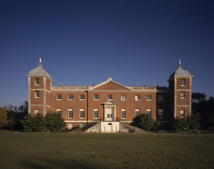 The west front of Osterley Park, showing the early C18th house on the site of an earlier Tudor house