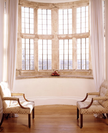 The bay window in the Great Chamber at Trerice, Cornwall
