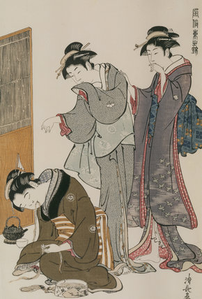 DOZING TEA-SELLER 19th-20th-century reprint after Hiroshige (d.1858)