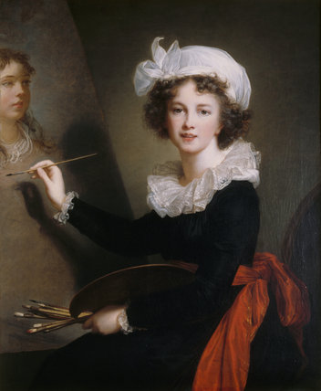 Self-portrait by Elisabeth Louise Vigée Le Brun (Paris 1755 - Paris 1842)