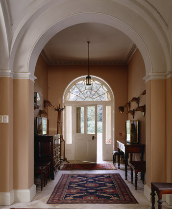 The Entrance Hall at Llanerchaeron