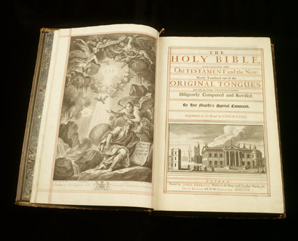 Bible printed by John Baskett of Oxford