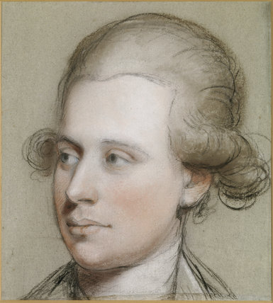 JAMES WILLIS (1761-1817) by John Russell, R.A. This crayon portrait shows the sitter in a white silk cravat and wig.