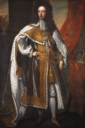 Portrait of KING WILLIAM III, (1650-1702) after Sir Godfrey Kneller,(1646-1723) in the Lobby between the Blue Room and the North Staircase at Hardwick Hall