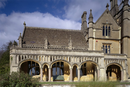 The Drawing Room Loggia on the south front of Tyntesfield