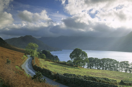 A shot of Crummock Water in Buttermere Valley in Cumbria