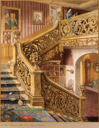 THE GHOST STAIRCASE, at Rolls Park, Chigwell, Essex, by Rebecca Dulcibella Orpen