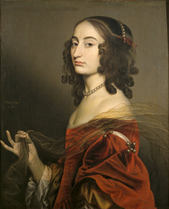 LOUISE HOLLANDINE, PRINCESS PALATINE (1622 - 1709), by Gerard Van Honthorst, (1590-1656) at Ashdown House