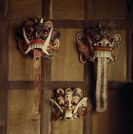 Snowshill - Seraphim: Rangda masks from the Javanese Theatre Rangda is an evil spirit, she is a widow and under Hindu custom has no further right to life