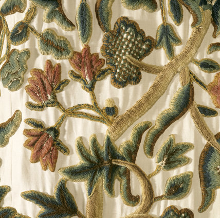 Detail of tapestry in the White Room at Cotehele