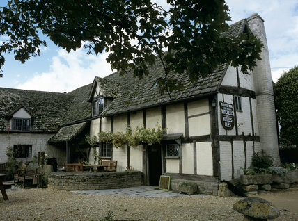 The half-timbered Fleece Inn at Bretforton