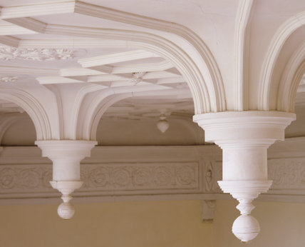 Close up of the fine Hall Ceiling photographed  from the Musicians' Gallery