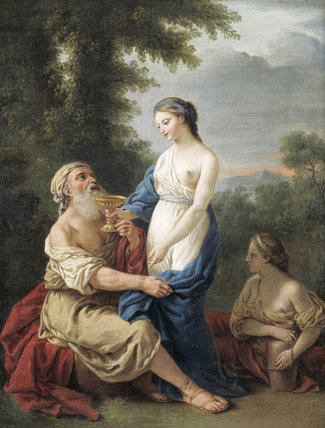LOT AND HIS DAUGHTERS by Samuel Woodforde (1763-1817) after L.J.F.Lagrenee