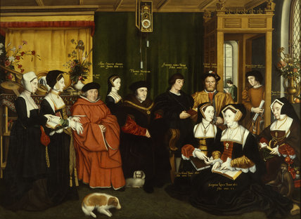 THE FAMILY OF SIR THOMAS MORE, 1530, by Rowland Lockey in the Entrance Hall at Nostell Priory