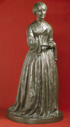 Florence Nightingale sculpted by Hilary Bonham - Carter, her cousin