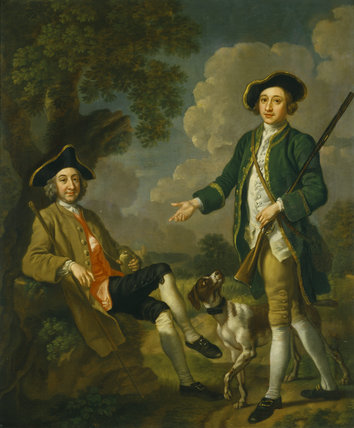 TWO GENTLEMEN by Francis Hayman 1708-1776
