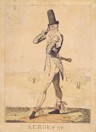 A FASHIONABLE CROP by Cruikshank, 1791