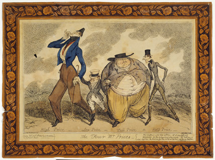 THE FOUR MR. PRICES by Cruikshank, 1825