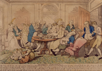 MISERIES PERSONAL, by Rowlandson, 1807