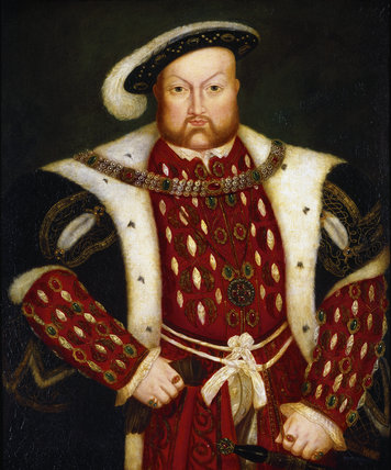 PORTRAIT OF HENRY VIII, from the collection of Lord Howard of Effingham in the Staircase at Packwood House