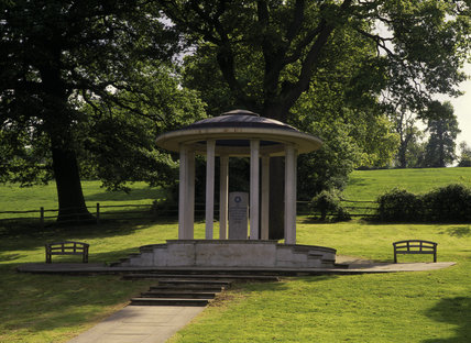 The Magna Carta Memorial, designating the spot where it was sealed in 1215
